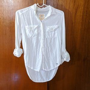 Hollister super soft white shirt